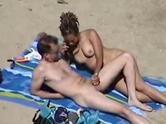 Nudisten at Beach long cockmassage