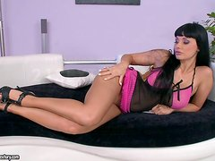 Aletta Ocean enjoys fingering and toying her pussy