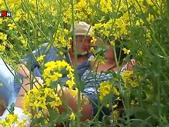 Busty Horny MILF Fucked Hard in the Ass in the Fields