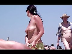 French nudist beach Cap d'Agde people walking nude -- R2F
