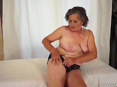 Horny BBW Granny Getting Her Hairy Pussy Fucked Hard