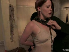 Tied up Lilla Kat gets humiliated and then fucked