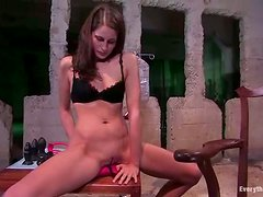 Kara Dax enjoys playing with her awesome ass in some weird palce
