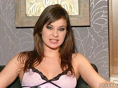 Porn Interview with Sexy Brunette Beauty Abbie Cat