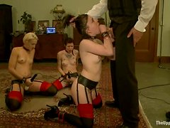 Dylan Ryan and Juliette March enjoy being mouth-fucked in BDSM vid