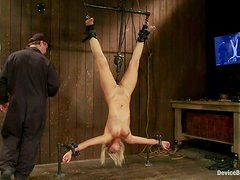 Incredible suspension for a kinky blond Tara Lynn Foxx