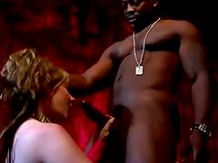 Haley Scott moans loudly while getting her ass drilled by a black stud