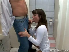 Public toilet sex with a sexy babe Maloo