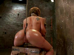 Hot Ass Babe Amy Brooke Gets Tied and Toyed in BDSM Clip