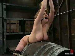 Tyla Wynn gets her pussy toyed and fucked hard in BDSM clip