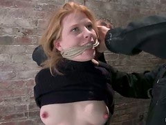 Beautiful Madison Young Hanging from the Ceiling in Extreme Bondage Vid