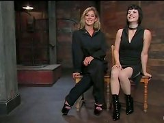 Amazing lesbian BDSM action with two sassy hotties