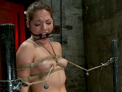 Gorgeous Evilyn Fierce gets tied up to a chair and toyed