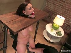 Brooke Lee Adams gets tied up and amazingly fucked indoors