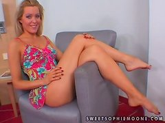 Sandra Black and Sophie Moone toy each other's hot cunts