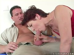Terezka blows and gets her juicy cunt unforgettably pounded