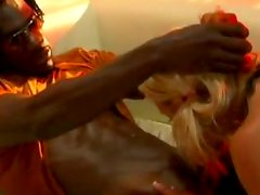 Blonde Leah Luv gets fucked hard and deep by Black guy