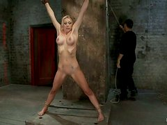 Samantha Sin the big breasted blonde gets toyed