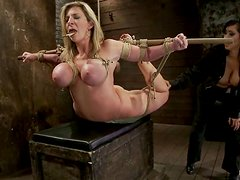 Big tittied Sara Jay gets tied up and humiliated