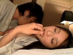 Japanese sweetie enjoys ardent sex after getting her vag toyed