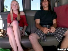 Chloe Foster gets fucked by a kinky dude in the bang bus
