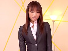Cute Japanese girl in office clothes gets fucked hard