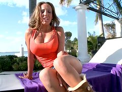 Richelle Ryan gets her pussy and mouth fucked hard