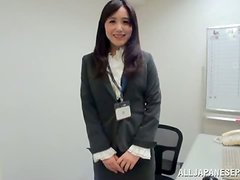Petite office girl gets naked with her colleagues