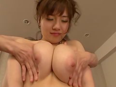 Horny Azusa Nagasawa gets her ass toyed and fucked