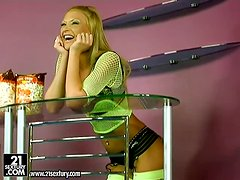 Slutty Lisa Rose gets her pussy drilled by three guys