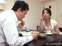 Morning pleasures with a sizzling Japanese hun Marina Matsumo