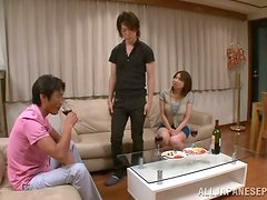 Mio Takahashi gets fondled and enjoys some fervent banging