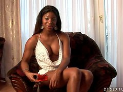 Jasmine the hot Black porn star gives an interview