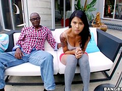 Dana Vespoli has oral sex with a black stud and lets him drill her cunt