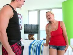 Curvy blonde Abbey Brooks gets her vag pounded by a masseur