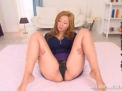 Sexy Japanese bunny Kaori is in love with that cock