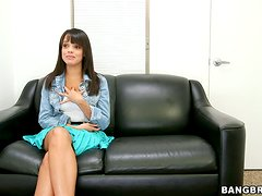 Stacey Foxxx shows off her awesome tits and gets her cunt smashed