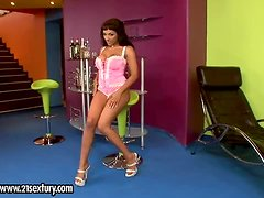 Exotic Tattooed Vixen Loona Lux Fingering and Toying Her Snatch
