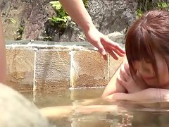 Cute Japanese girl sucks a cock and gets fucked in a Jacuzzi