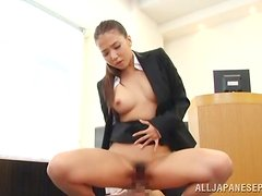 The new teacher fulfills her fantasy of fucking in class