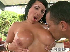A lonely and lovable housewife fucks the pool guy
