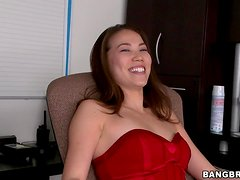 Exotic babe Lily shows off her Asian pussy and gets it licked and fucked