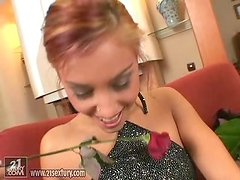 Adorable Anetta Keys fingers and toys her vagina