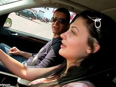 Some driving school action with the amazing Aletta