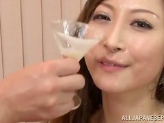 The orgasm hungry MILF gets covered in creamy jizz