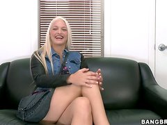 Maci Lee gets fucked and facialed at the interview