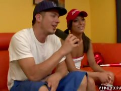 Audrianna Angel the baseball fan gets fucked and fingered