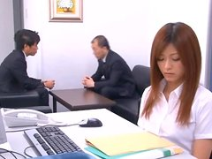 Hot Fuck Redhead Asian Babe Teasing In The Office And Getting Her Wet Junk Rubbed And Pounded