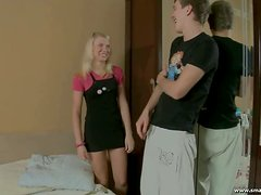 Irina gets laid by a guy in her college course