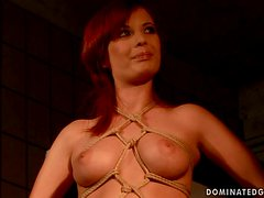 BDSM Fucking for Lovely Busty Tied Up Babe Zyna Baby